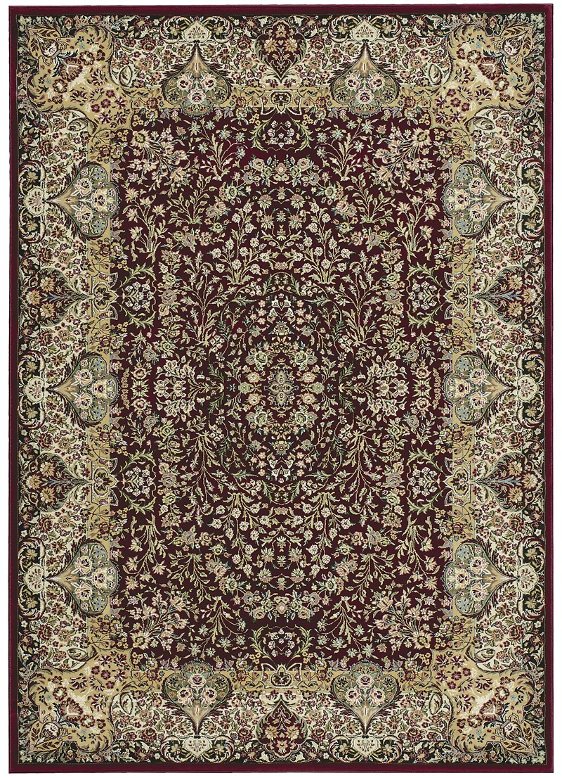 Kathy Ireland Antiquities Stately Empire Burgundy Area Rug By Nourison