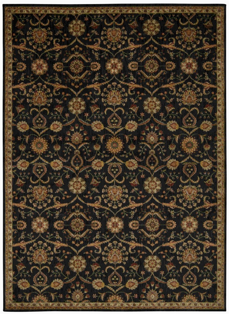 Kathy Ireland Ancient Times Persian Treasure Black Area Rug By Nourison