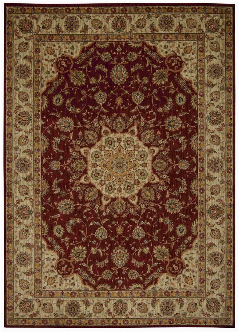 Kathy Ireland Ancient Times Palace Red Area Rug By Nourison
