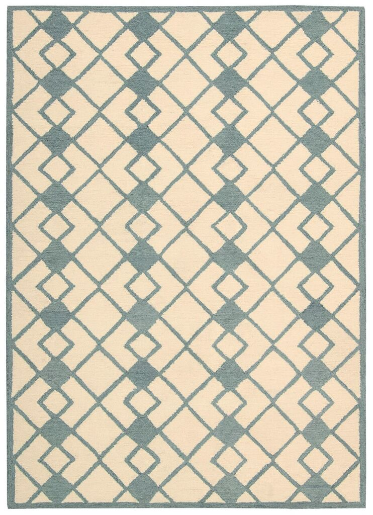 Nourison Decor Ivory Blue Area Rug