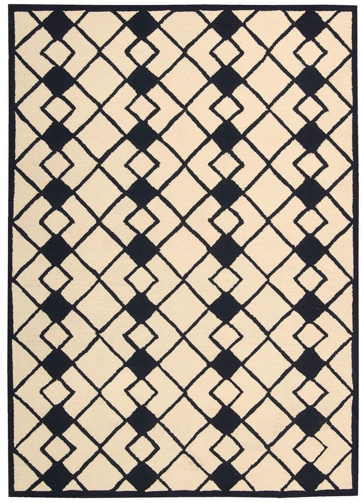 Nourison Decor Ivory Navy Area Rug