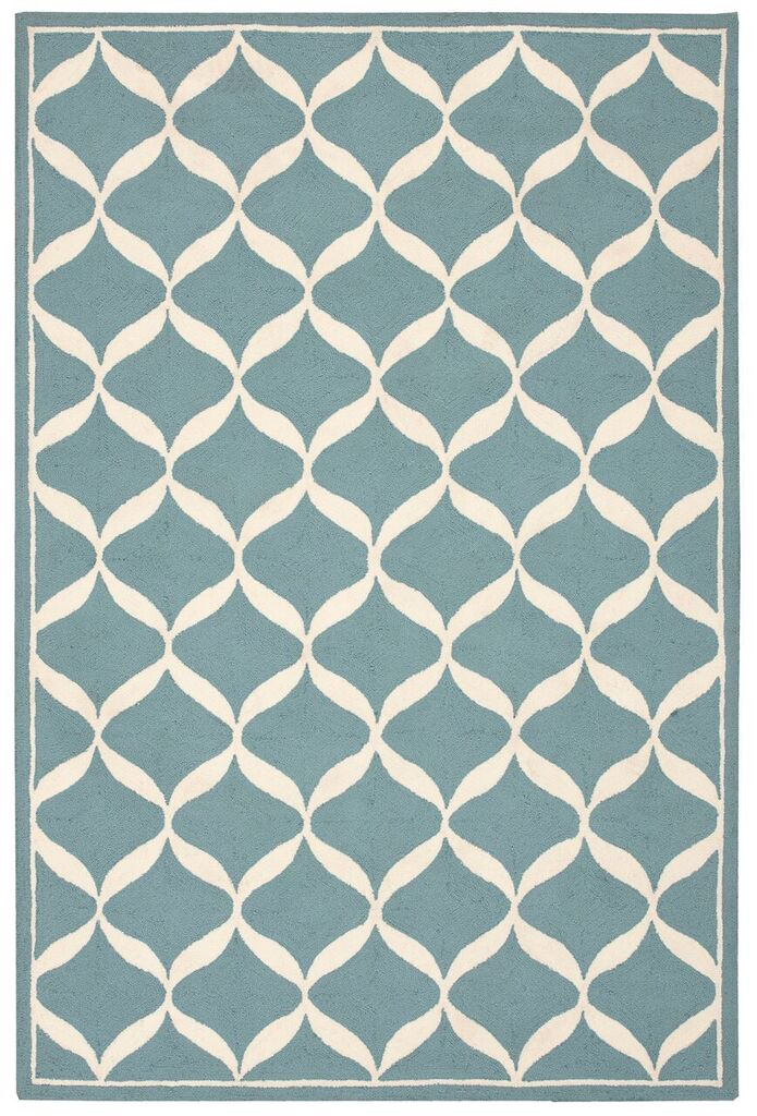 Nourison Decor Aqua White Area Rug