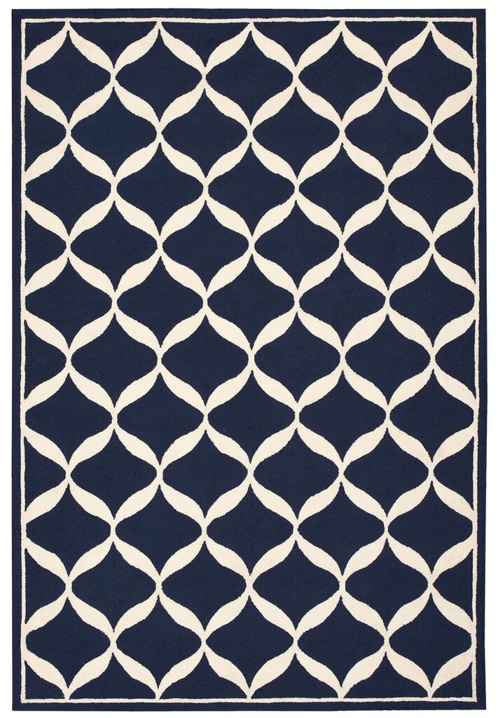Nourison Decor Navy White Area Rug