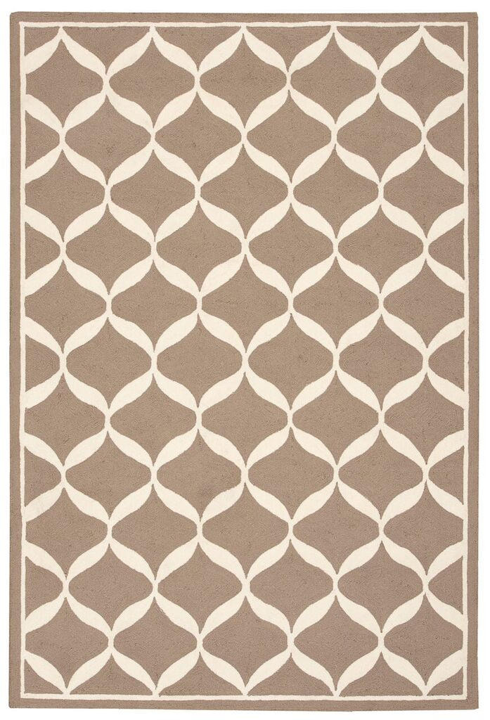 Nourison Decor Taupe White Area Rug