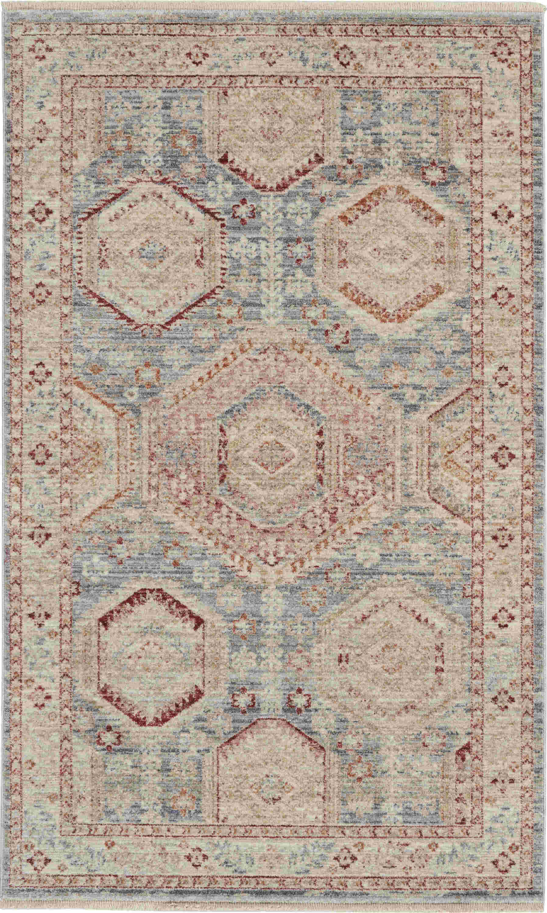 Nourison Enchanting Home Traditional Light Blue Multi Rug Enh01
