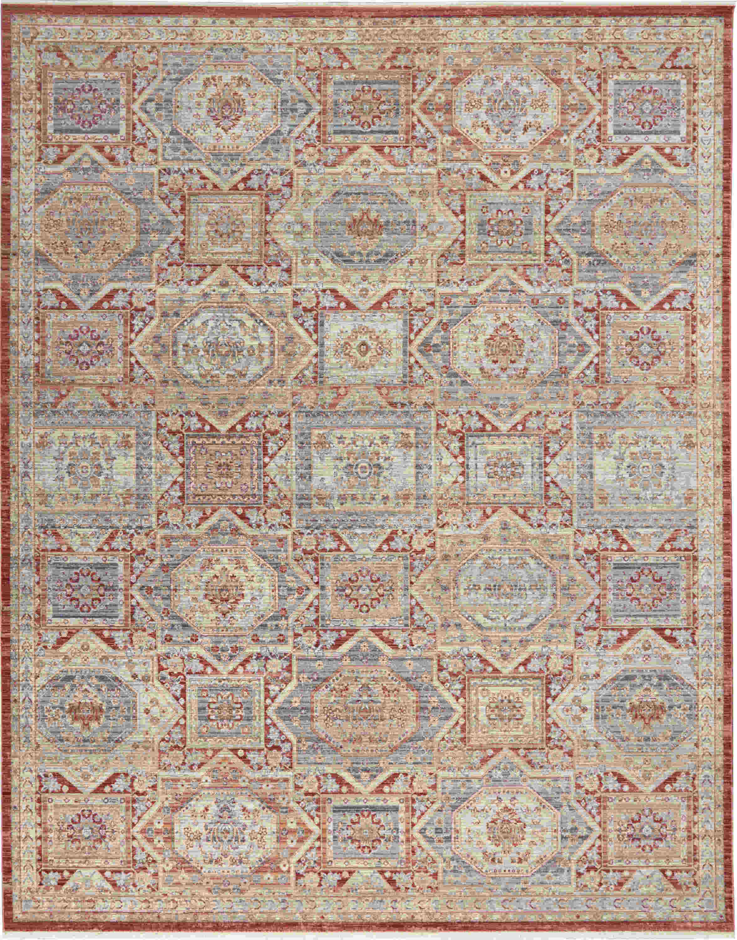 Nourison Enchanting Home Traditional Blue Rug Enh02