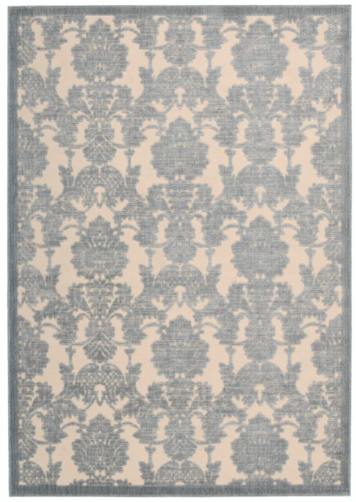 Nourison Graphic Illusions Ivory/light Blue Area Rug