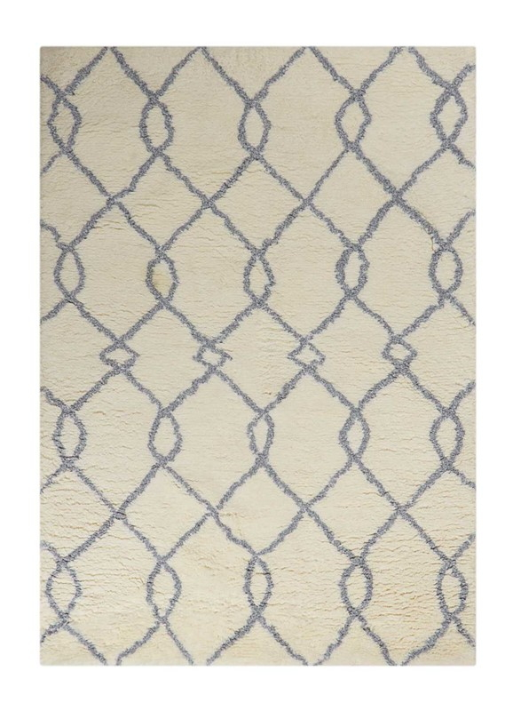 Nourison Galway Ivory Blue Shag Area Rug