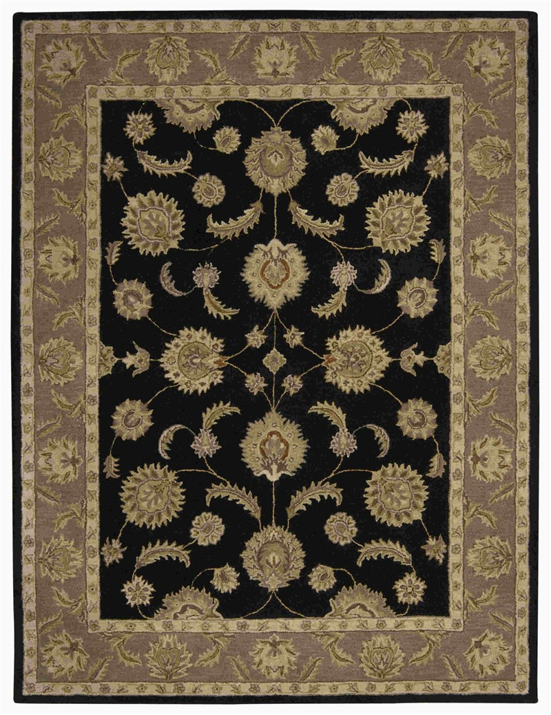 Nourison India House Black Area Rug