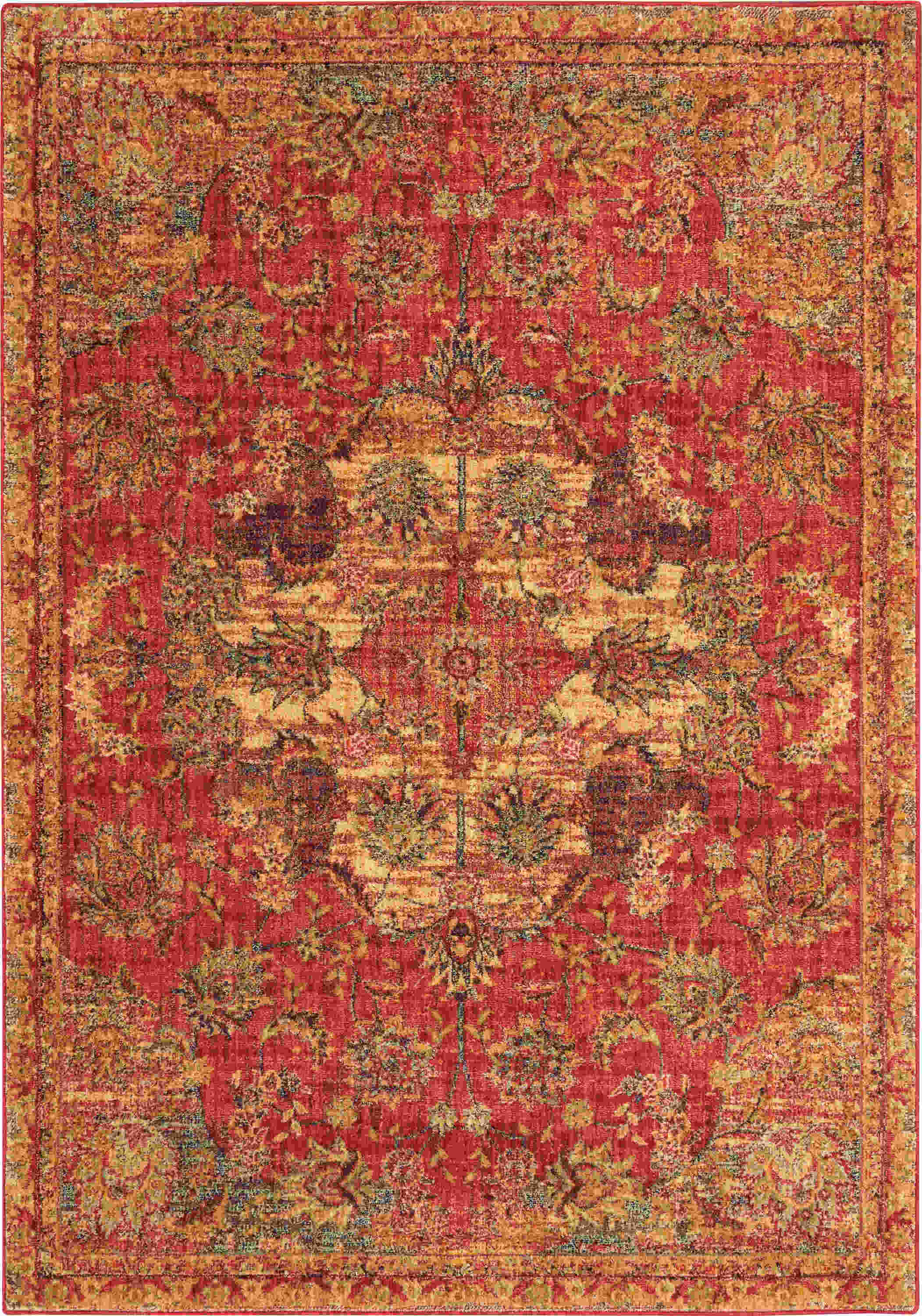 Nourison Jewel Traditional Red Rug Jel01