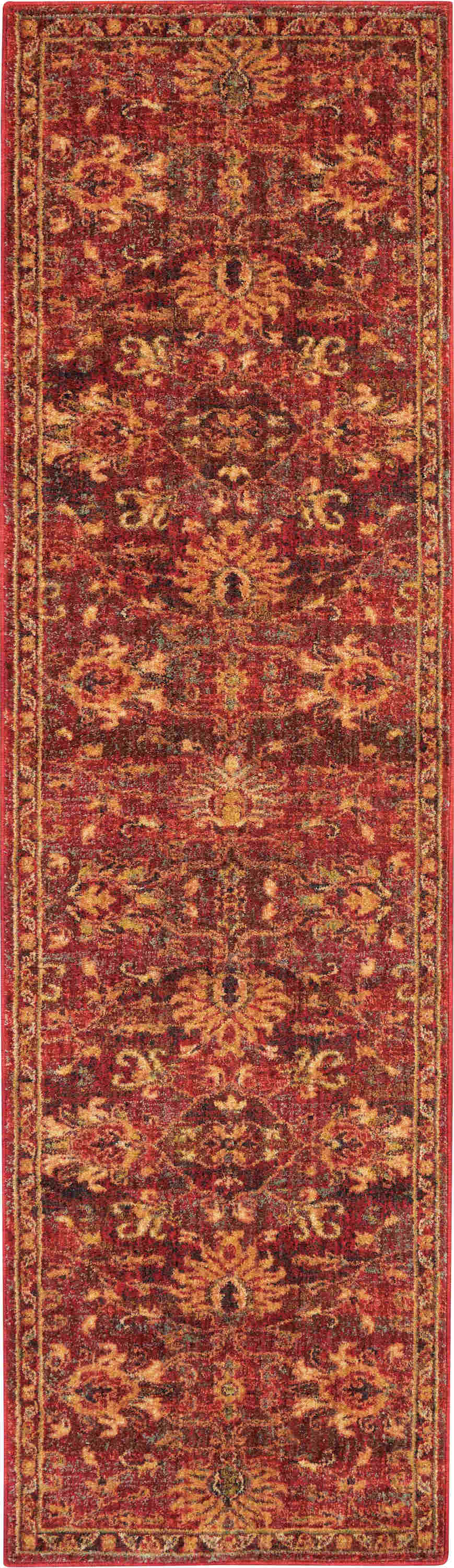 Nourison Jewel Traditional Brick Rug Jel02