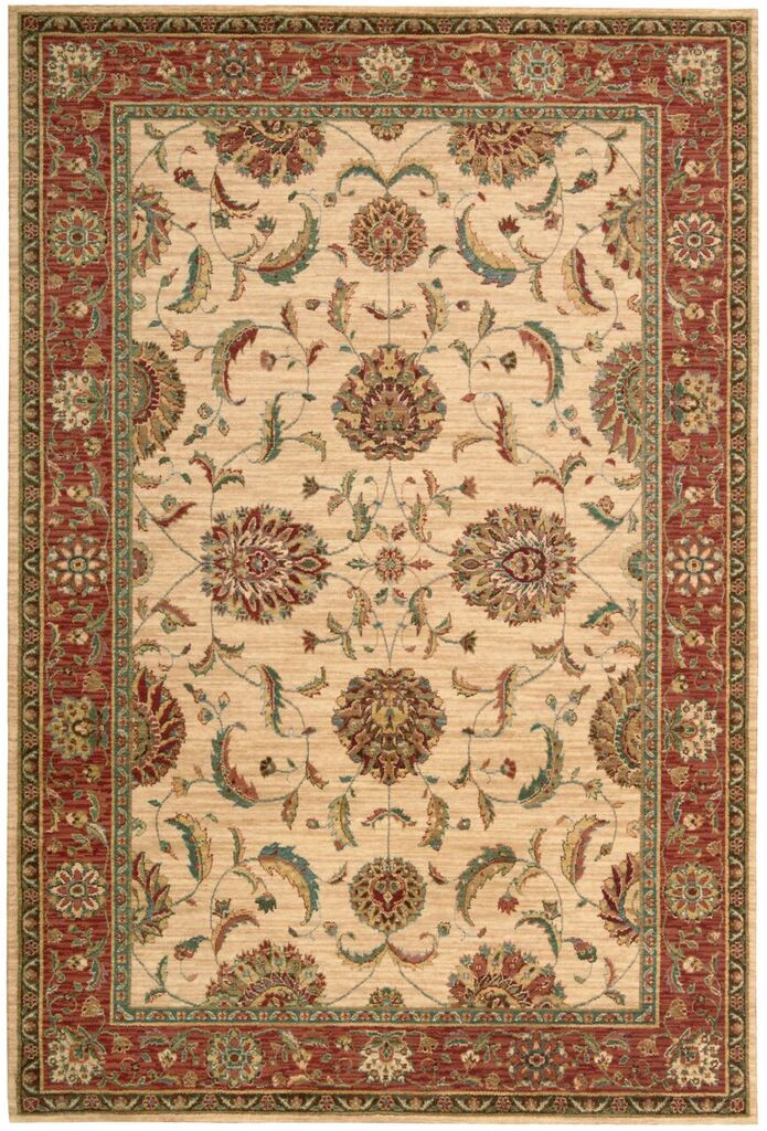 Nourison Living Treasures Ivory Red Area Rug