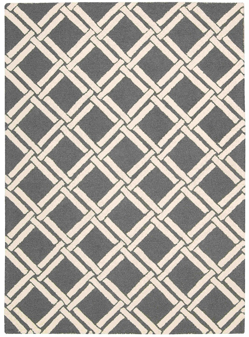 Nourison Linear Grey Ivory Area Rug