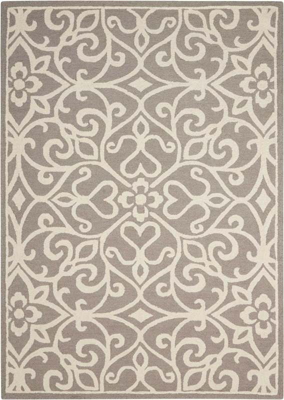 Nourison Linear Silver/ivory Area Rug