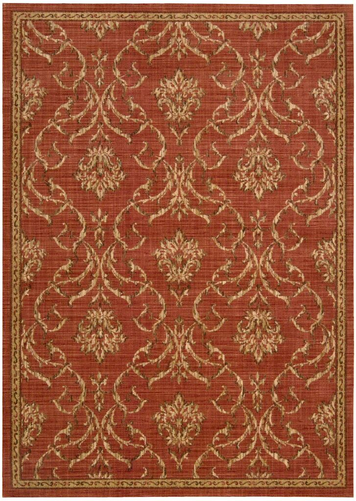 Nourison Radiant Impression Persimmon Area Rug