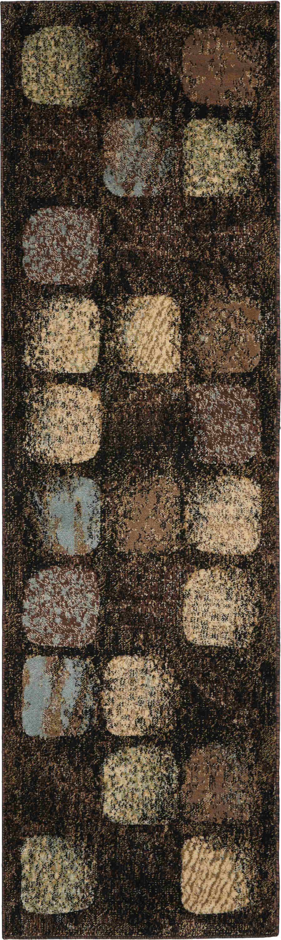 Nourison Modesto Transitional Charcoal Rug Mds01