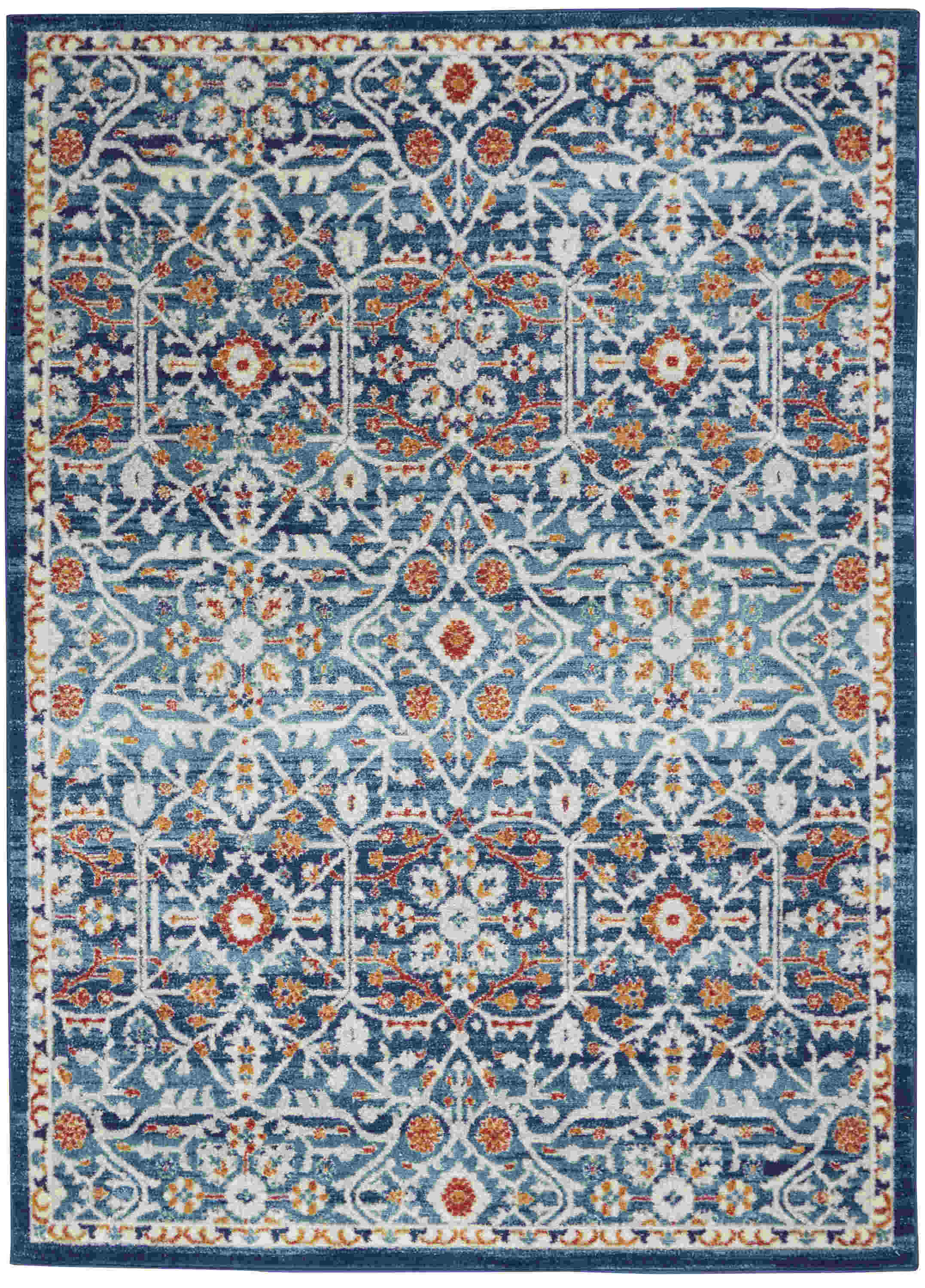 Nourison Passion Transitional Blue Rug Psn28