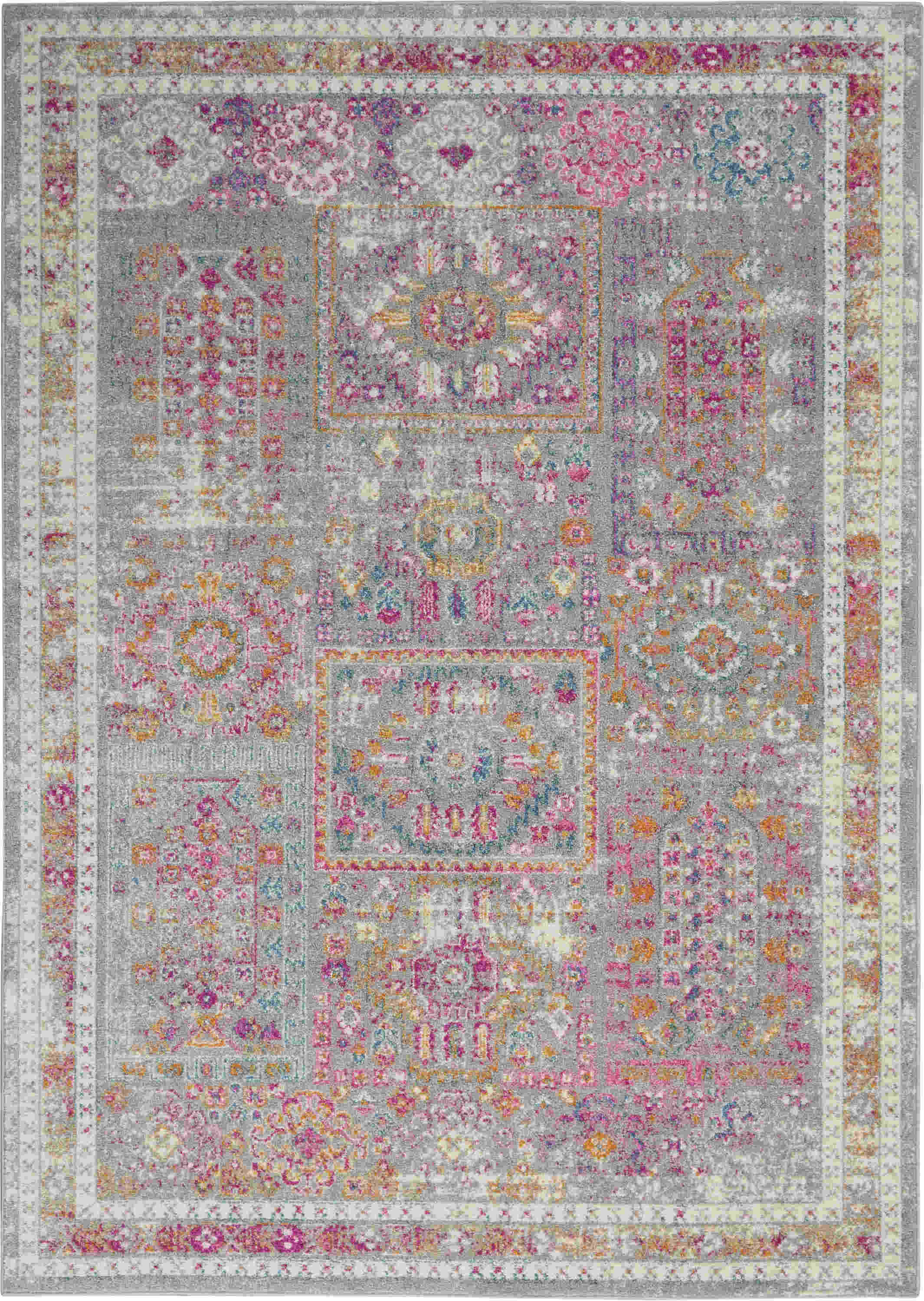 Nourison Passion Transitional Grey Rug Psn37