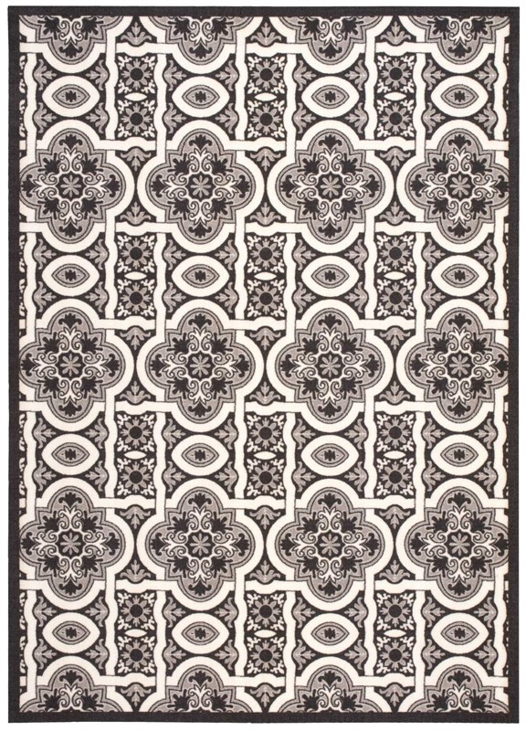 Nourison Home & Garden Black Indoor/outdoor Area Rug