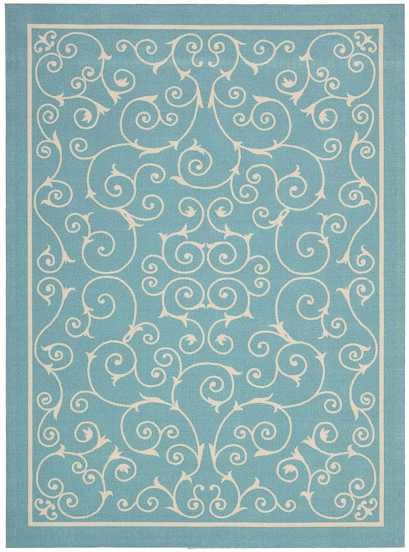 Nourison Home & Garden Light Blue Indoor/outdoor Area Rug