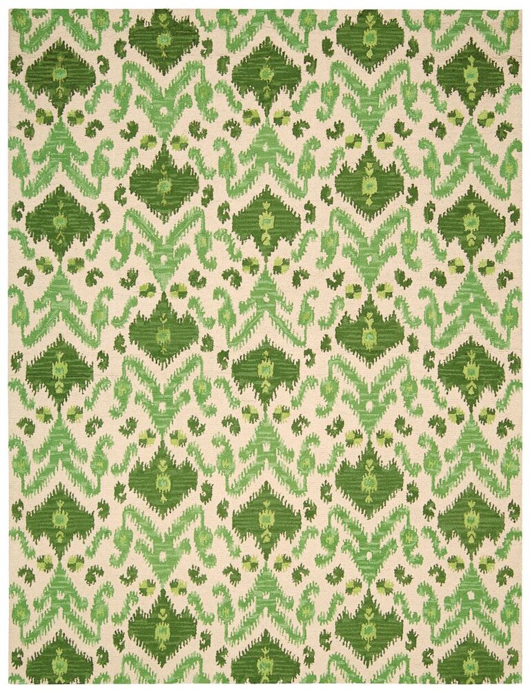 Nourison Siam Ivory Green Area Rug