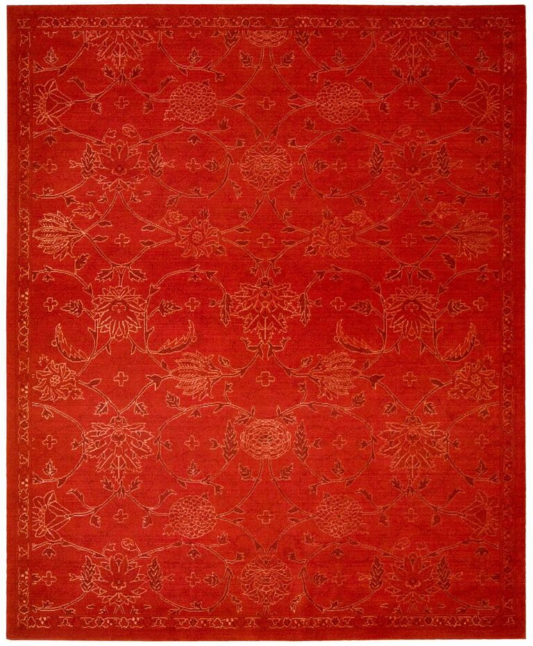 Nourison Silk Infusion Red Area Rug