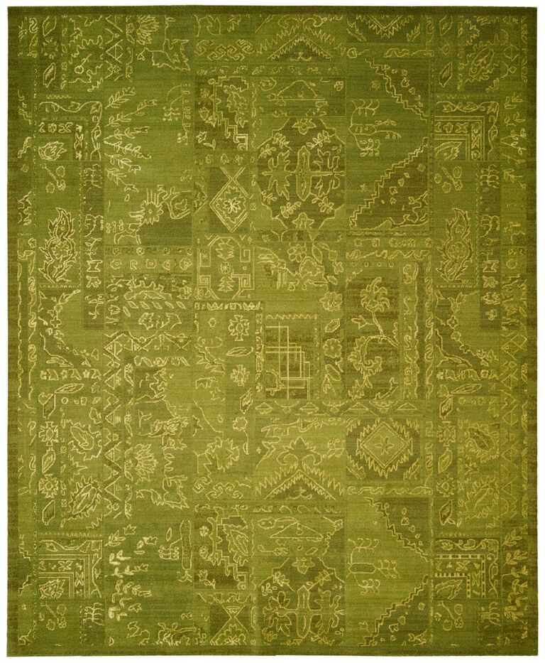 Nourison Silk Infusion Green Area Rug