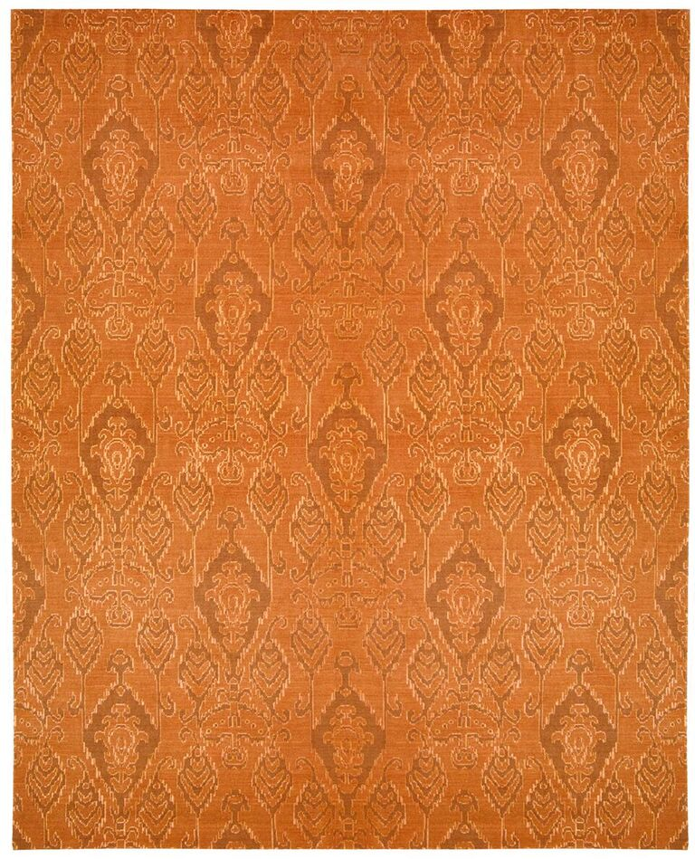 Nourison Silk Infusion Dark Rust Area Rug