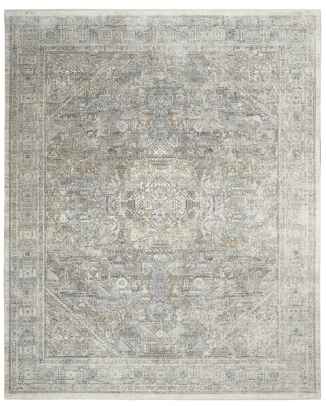 Nourison Starry Nights Traditional Cream Grey Rug Stn02