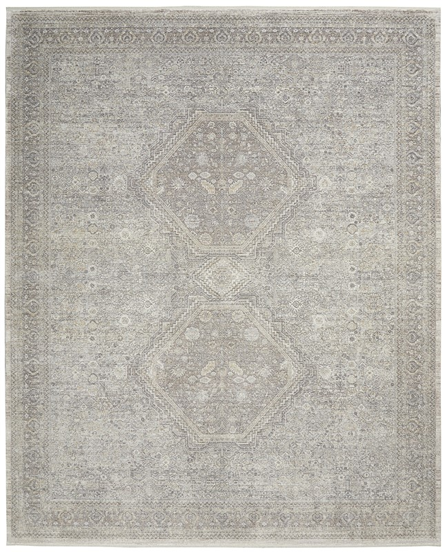 Nourison Starry Nights Traditional Cream Grey Rug Stn04