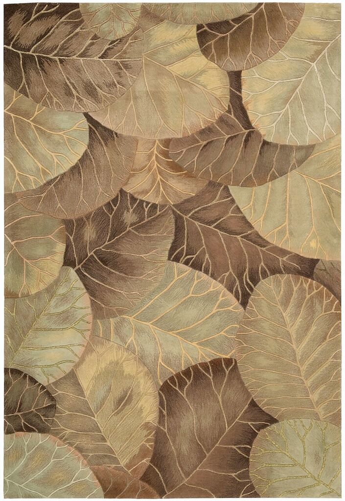 Nourison Tropics Brown Green Area Rug