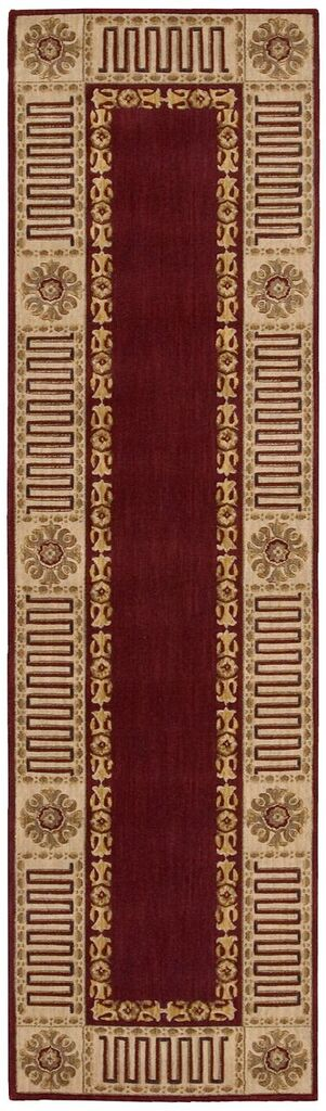 Nourison Vallencierre Burgundy Area Rug