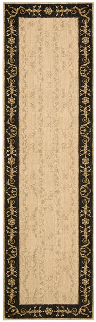Nourison Vallencierre Beige Black Area Rug
