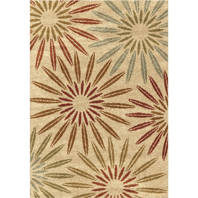 Orian Rugs Floral Floral Halley Multi Area Rug 5'3 X 7'6
