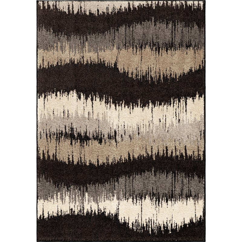Orian Rugs Stripes Stripes Brushed Waves Multi Area Rug 5'3 X 7'6