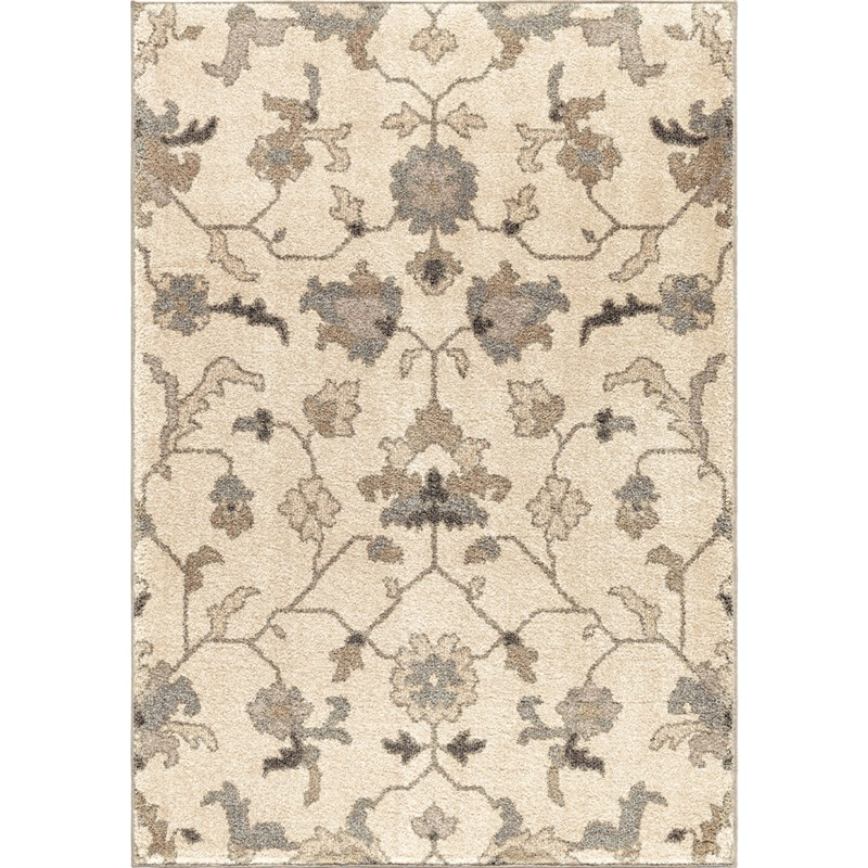 Orian Rugs Floral Floral Tantum Ivory Area Rug 5'3 X 7'6
