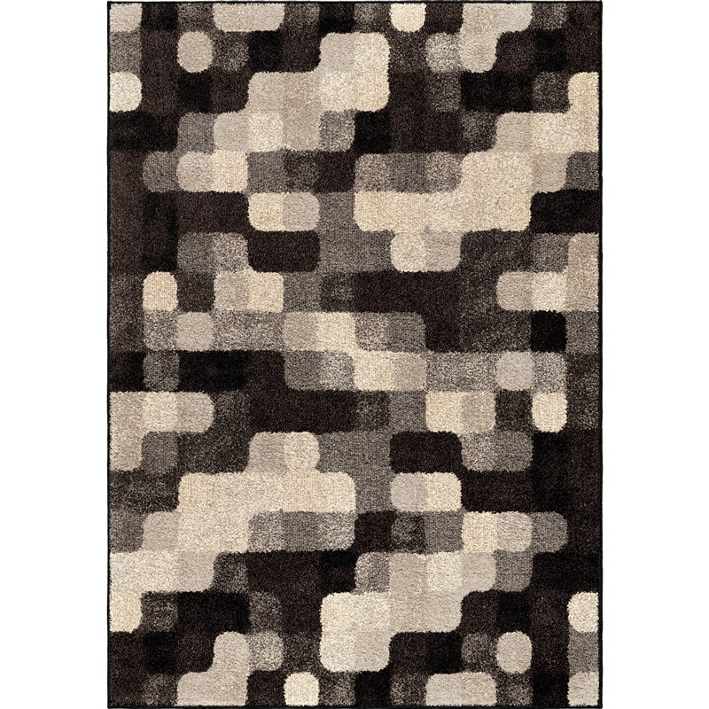 Orian Rugs Geometric Geometric Halo Blocks Gray Area Rug 5'3 X 7'6