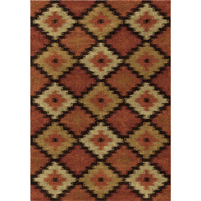 Orian Rugs Southwest Southwest Aztec Panel Multi Area Rug 5'3 X 7'6