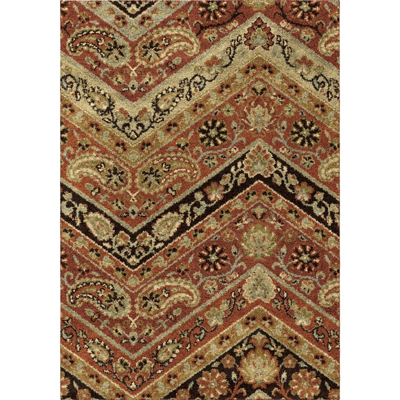 Orian Rugs Plush Pile Paisley Paisley Point Multi Area Rug 7'10 X 10'10