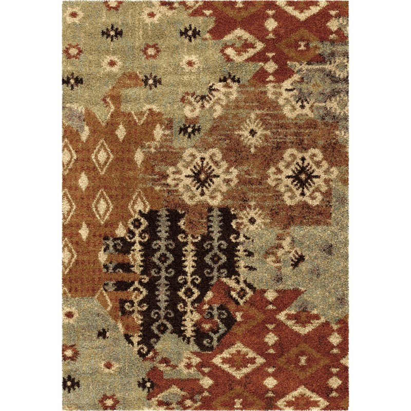 Orian Rugs Southwest Southwest Kilim Patches Multi Area Rug 5'3 X 7'6