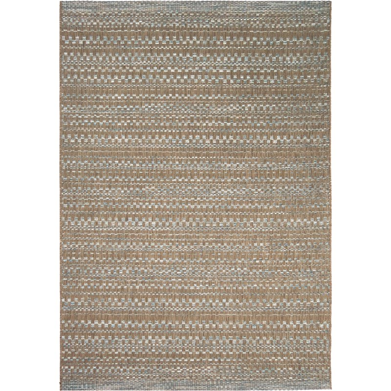 Orian Rugs Indoor/outdoor Border Aegean Dark Blue/ Brown Area Rug 5'1 X 7'6