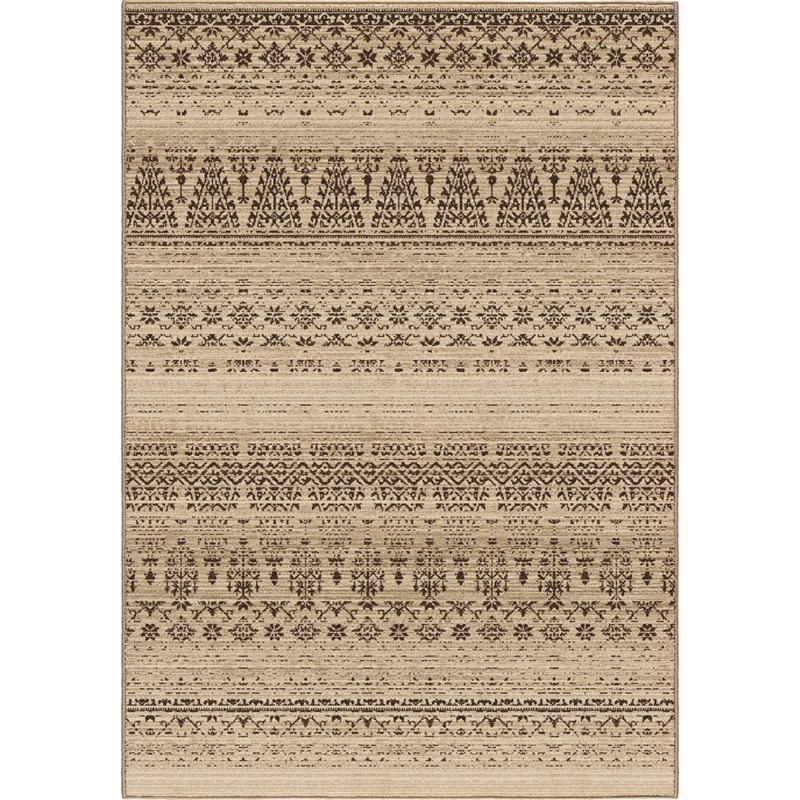Orian Rugs Unique Designs Lodge Thames Beige Area Rug 5'3 X 7'6