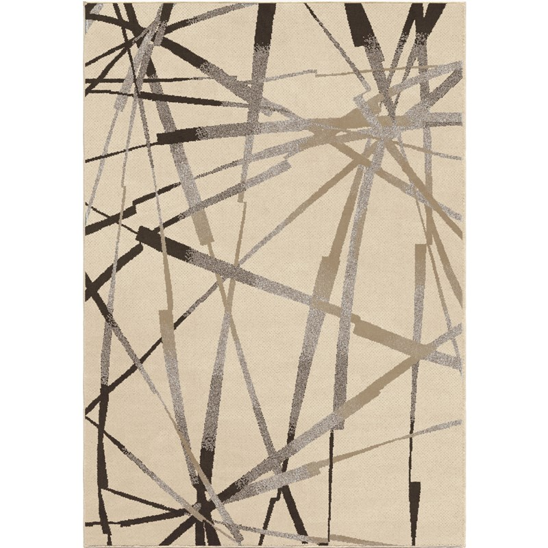 Orian Rugs Soft Abstract Thunder Ivory Area Rug 5'3 X 7'6