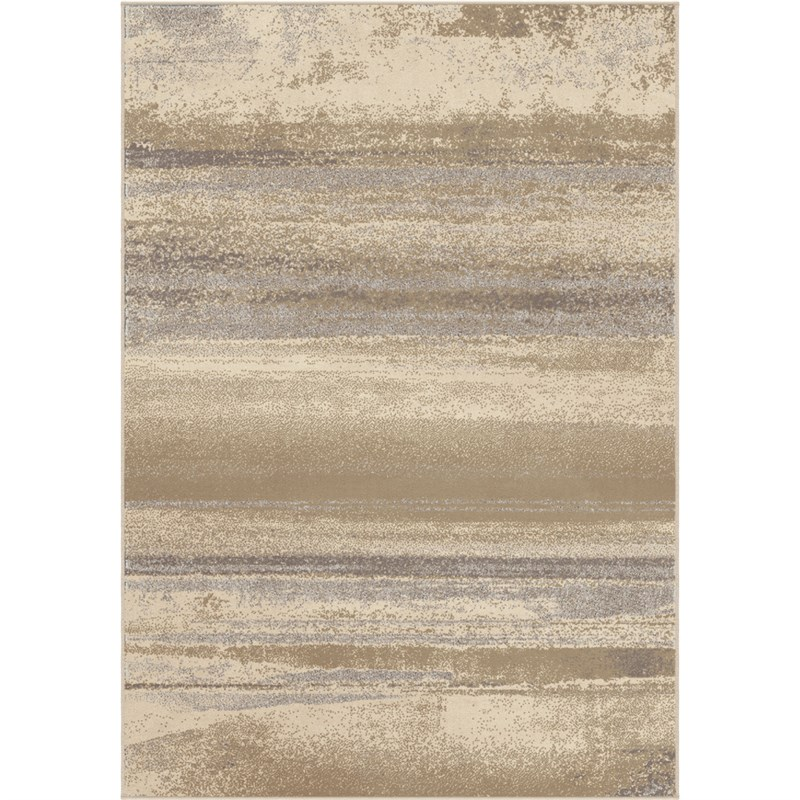 Orian Rugs Soft Shaded Lines Breckenridge Ivory Area Rug 5'3 X 7'6