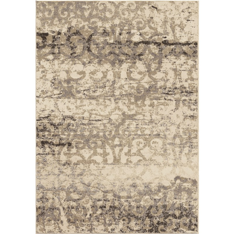 Orian Rugs Soft Scroll Buxton Bliss Ivory Area Rug 5'3 X 7'6
