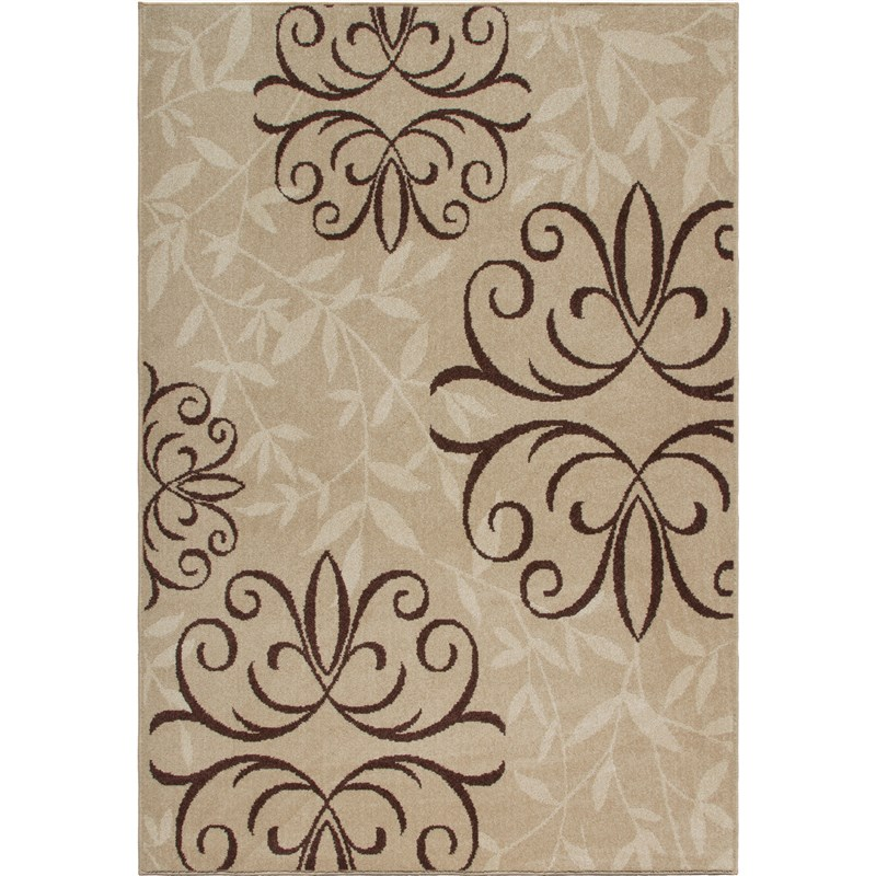 Orian Rugs Indoor/outdoor Medallion Josselin Beige Area Rug 6'5 X 9'8