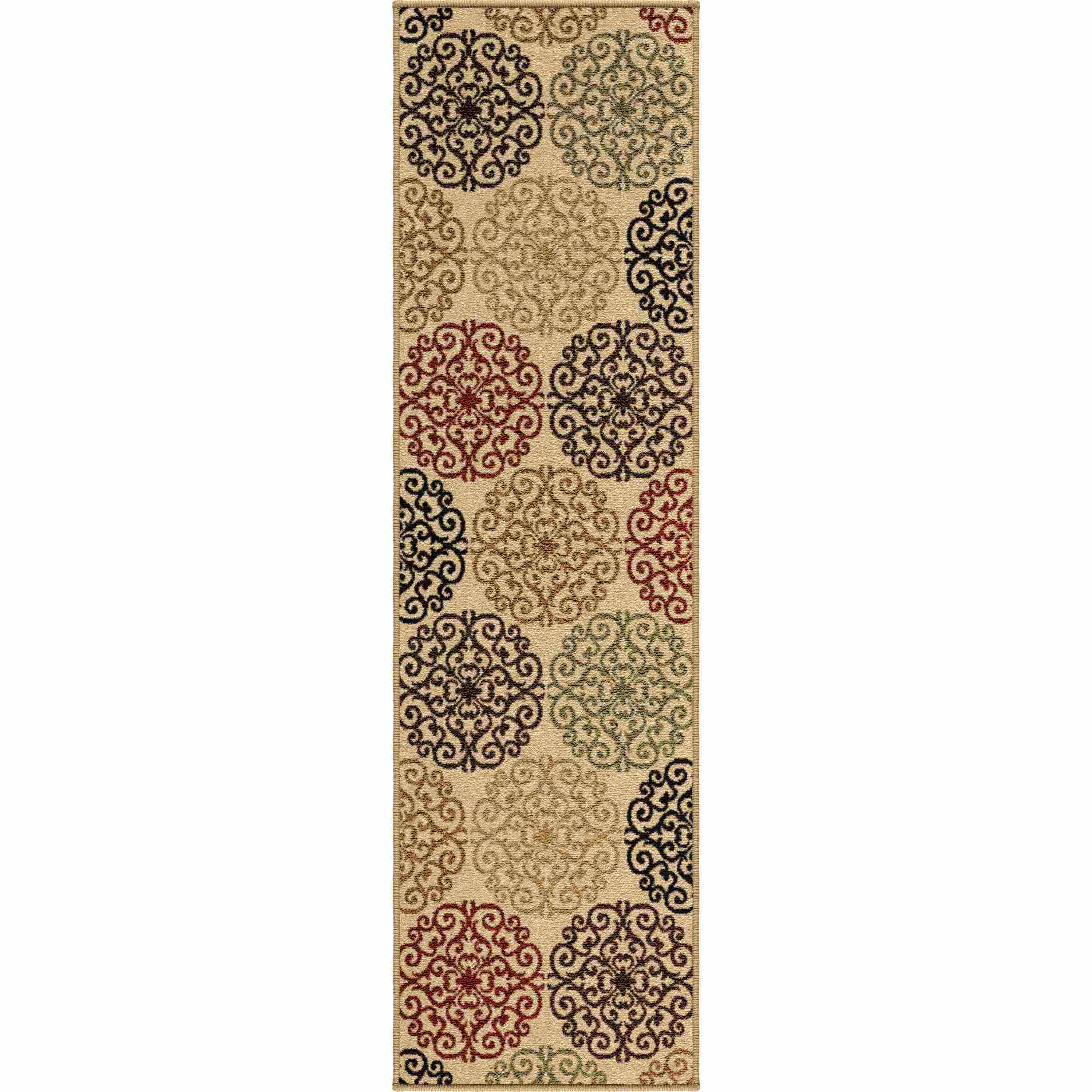 Orian Rugs Indoor/outdoor Medallion Catalina Bisque Runner