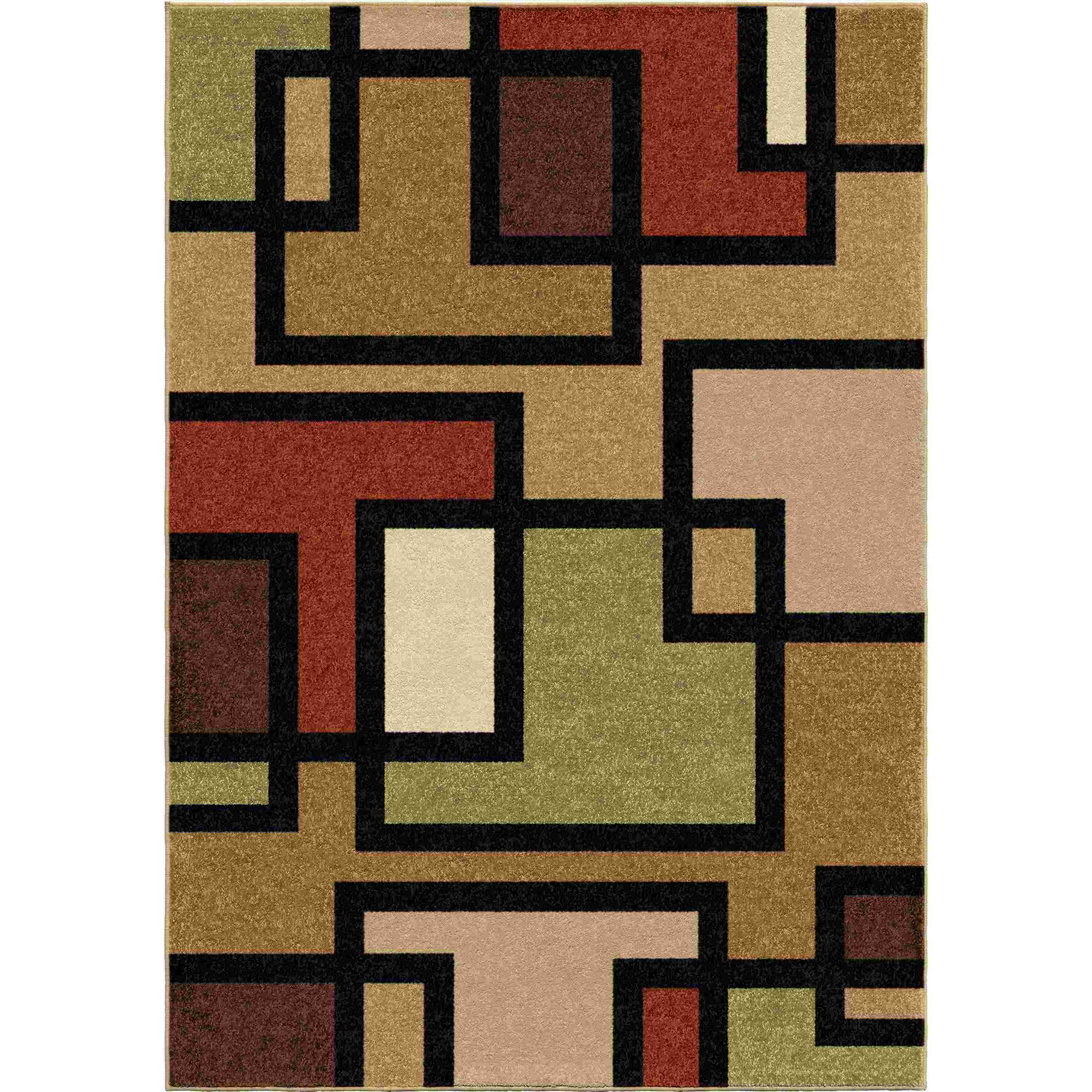 Orian Rugs Indoor/outdoor Blocks Turner Multi Area Rug