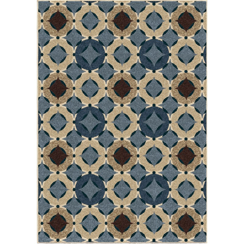 Orian Rugs Indoor/Outdoor Circles Orbison Multi Area Rug (5'2
