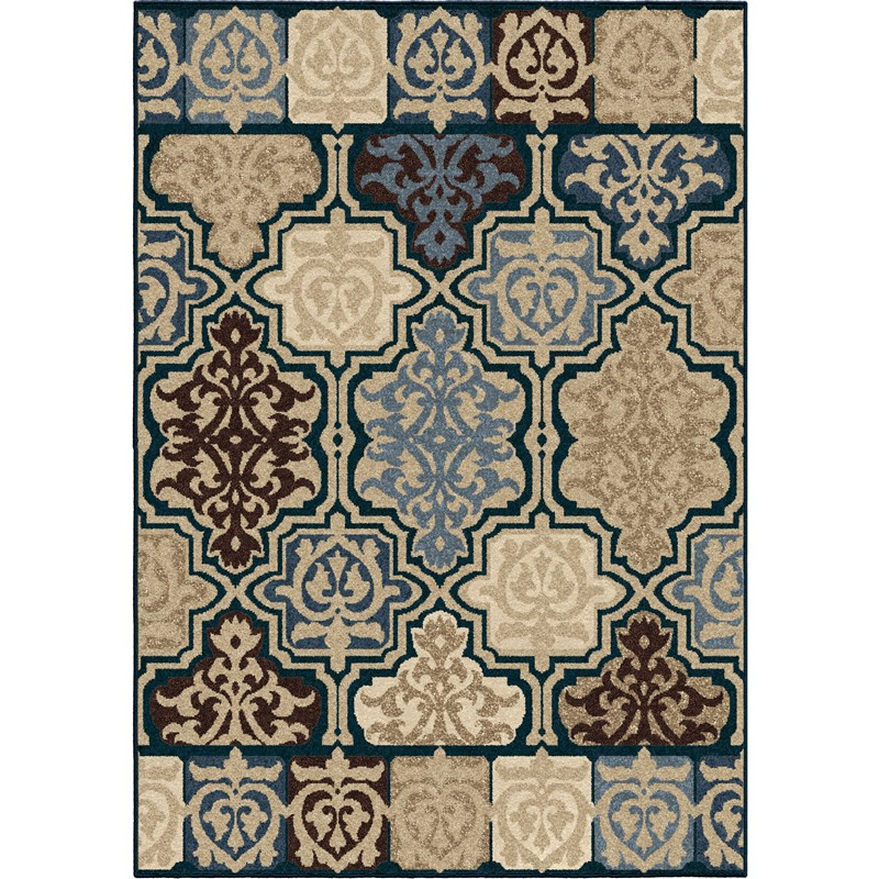 Orian Rugs Indoor/outdoor Geometric Yandell Multi Area Rug 5'2 X 7'6